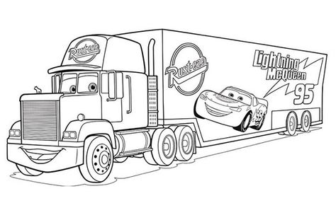 Coloriage Cars 3 A Imprimer Truck Coloring Pages Cars Coloring