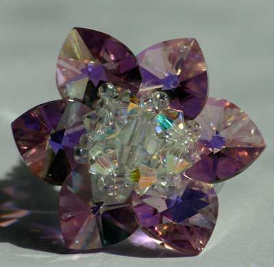 Bague Nénuphar en Perles   Bague en cristal, Tutoriels bijoux de ...