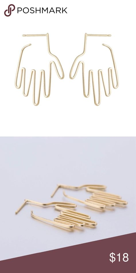 ❗️BOGO FREE Gold Hand Earrings ❗️BOGO FREE - See above for BOGO info 👆   Hand Earrings   Gold Tone Nickel Free ▪️Also available in Silver Tone  Makes great gift for birthday graduation anniversary bridesmaids gifts wedding Christmas stocking stuffers friendship gifts Mother's Day Valentine's Day Teachers gifts Jewelry Earrings