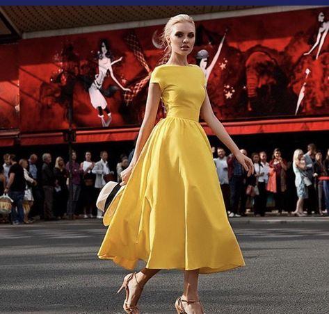 European Yellow Ball Gown Dress – Knishknacks