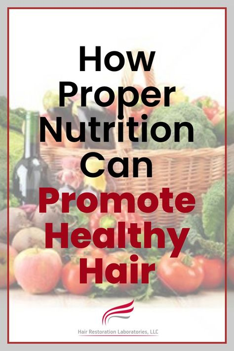 How Proper Nutrition Can Promote Healthy Hair