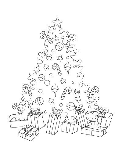 Free Printable Christmas Tree Coloring Pages Christmas Tree Coloring Page Tree Coloring Page Free Christmas Printables