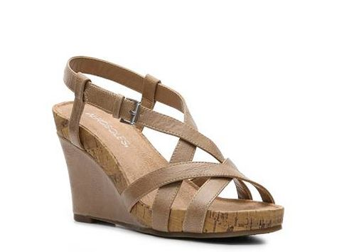 e1a0998bae2 Aerosoles At First Plush Wedge Sandal Wide Width Womens Shoes - DSW ...