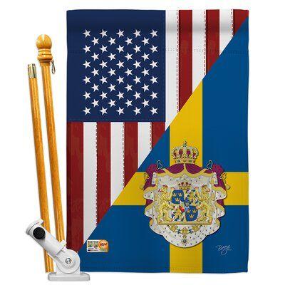 Breeze Decor Breeze Decor Hs108385 Bo Us Sweden Friendship Flags Of The World Impressions Decorative Vertical 28 X 4 Breeze Decor Fall Garden Flag House Flags