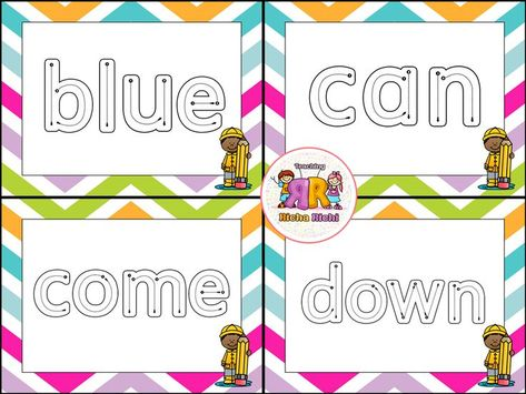Dolch Sight Word Task Cards (Pre-Primer) | Best of Kindergarten ...
