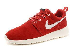 new style 73814 56790 chaussures nike roshe run anti-fur femme (rougeblancblanc logo) pas cher  en ligne en france.