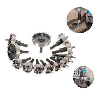 Hss Hole Saw Drill Bit Cutter Metal Reamer Copper Brass Aluminium Steel Set Tool In 2020 Drill Bits Hole Saw Copper Brass