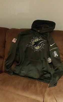 cheap for discount c2b03 74af8 Details about nike therma-fi camo miami dolphins salute to ...