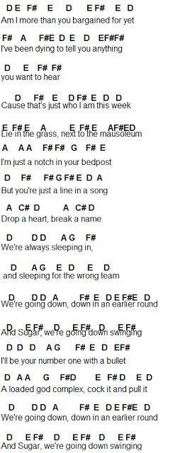 Flute Sheet Music: Sugar, We're Goin Down