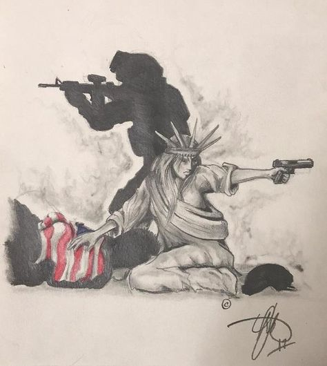 Fighting for Liberty Poster by Howard King Army Tattoos, Warrior Tattoos, Military Tattoos, 3d Tattoos, Tattoo Ink, Fox Tattoo, Military Sleeve Tattoo, American Flag Drawing, Norse Tattoo