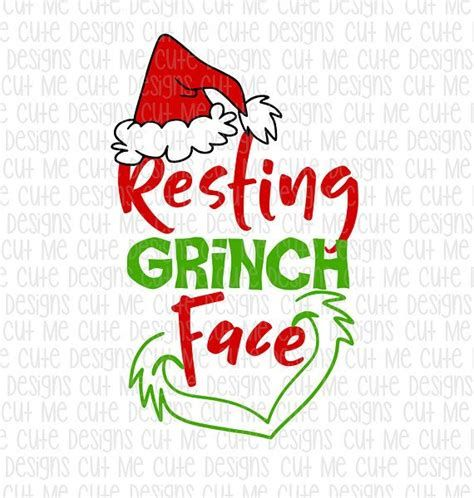 Free Grinch Face Svg Files For Cricut Yahoo Image Search Results Silhouette Christmas Grinch Face Svg Cricut