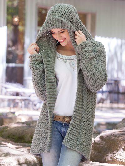 Crochet Clothing Downloads - Weekend Casual Hooded Sweater Crochet Pattern