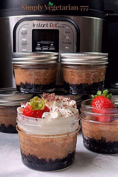 Easy Chocolate Cheesecake in a Jar Instant Pot Recipe