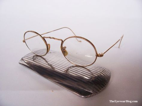 23cbb3b0cf2 American Optical Cortland circa 1930s with aluminum Art Deco Eyeglass Case.