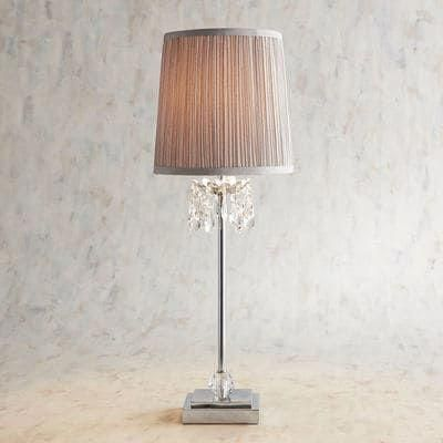 Tina Crystal Bead Gray Table Lamp Tablelamps In 2019 Grey Table
