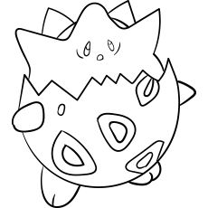 Togepi Coloring Pages Color Mom Junction