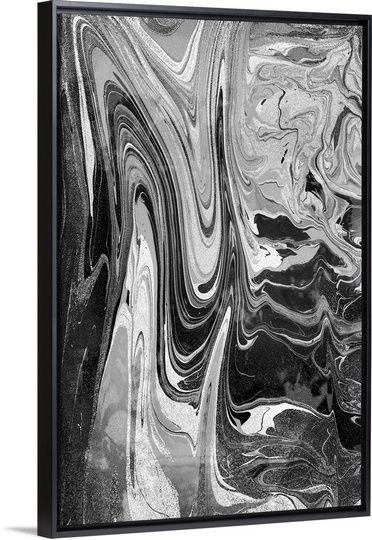 Marble Mood Grey Abstract Art Drip Art Black Wall Art