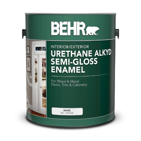 Specialty Alkyd Semi Gloss Enamel Paints For Your Project Behr With Images Exterior Paint Interior And Exterior Painting Trim