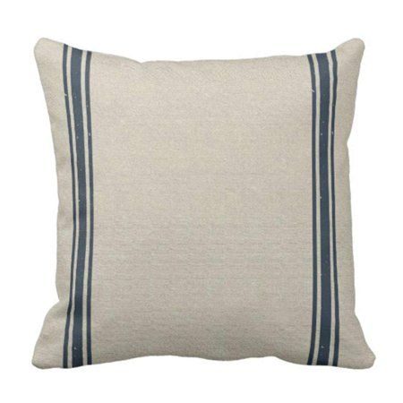 Double Navy Stripes Pillowcase 18x18