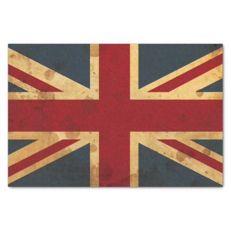 Shop Stained Union Jack UK Flag Tissue Paper created by AnyTownArt.