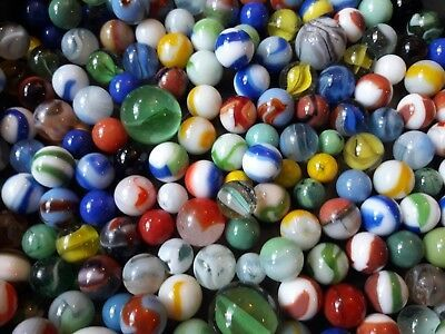 Details About Lot 10 Vintage Glass Marbles Grab Bag Random Opaque Patch Banded Swirl King In 2020 Glass Marbles Handmade Art Glass Swirls