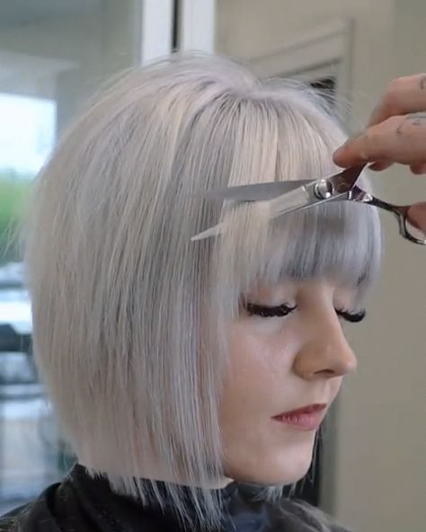 For those who do want to learn an easy way to cut a short bob. #shortbob