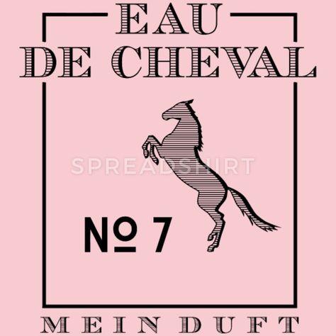 Eau De Cheval No 7 Frauen Premium T-Shirt - Schwarz