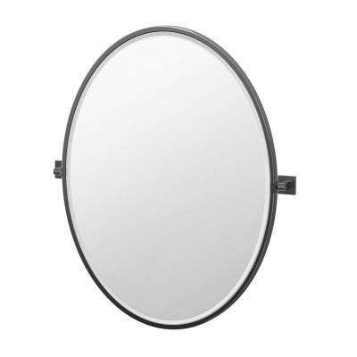Round Oval Black Bathroom Mirrors Bath The Home Depot