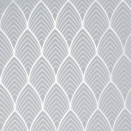 Superfresco Easy Bercy Gris Argent Wallpaper Art Deco