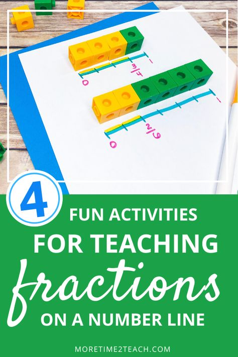 Teaching kids about fractions on a number line can be tricky. Read about 4 hands on fraction activities for kids that will make learning about fractions on a number line fun! They're easy to…More 3rd Grade Fractions, Teaching Fractions, Math Fractions, 4th Grade Math, Teaching Math, Teaching Geometry, Fractions Worksheets, Math Math, Help Teaching