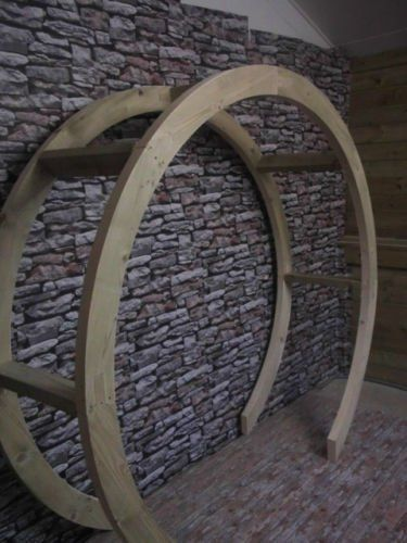 Circle only Smileswoodcraft Wooden Garden Moon Circle