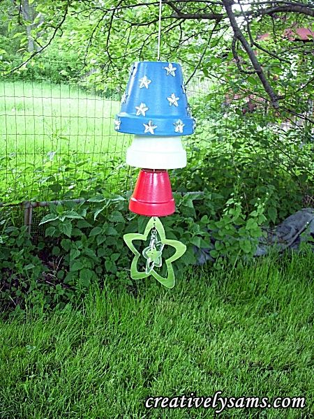 ☀ A lovely cheerful coloured terracotta pot wind chime idea ☀ Thank you ☀