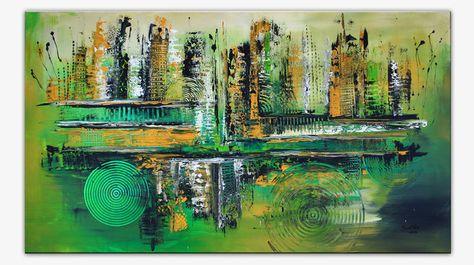 Leinwandbild Canvas Wandbilder Kunstdruck Keilrahmen Landschaft Treppe im Park