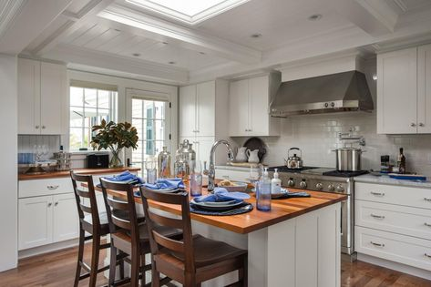 A center island not only adds storage and provides more counter space for meal prep, it's also the perfect spot for doing homework, enjoying breakfast or keeping the cook company before dinner. #HGTVDreamHome