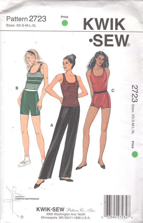 Kwik Sew 2723 Misses Dance Athletic Close Fitting  Pants Top and by mbchills
