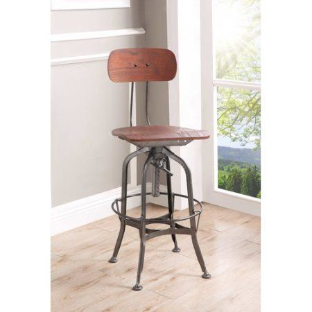 Stupendous 17 Stories Quinton Adjustable Height Swivel Bar Stool Unemploymentrelief Wooden Chair Designs For Living Room Unemploymentrelieforg