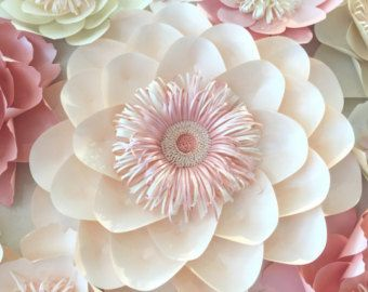 Paper Flower Wall In By Sydneypaperflowers On Etsy Flowers