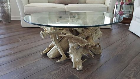 Beautiful Driftwood Coffee Table And Driftwood Dining Table