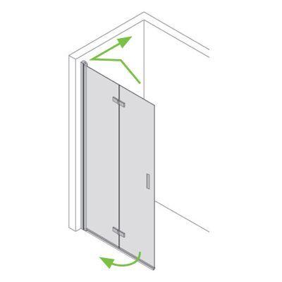 Duschwand Faltbar Nach Mass Walk In Typ 8005437 Klarglas Esg 6 Mm Chromeffekt Links Duschwand Dusche Duschkabine Glas