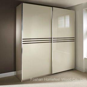 Wonderful Ivory Colour High Gloss Sliding Wardrobe Hf Ey0829 In 2020 Sliding Wardrobe Ivory Color Luxury Bedroom Master