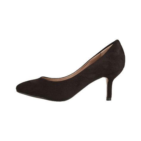 29d67e5957 Fekete színű, szintetikus velúr bőr anyagú, elegáns női cipő (sarka: 7 cm)