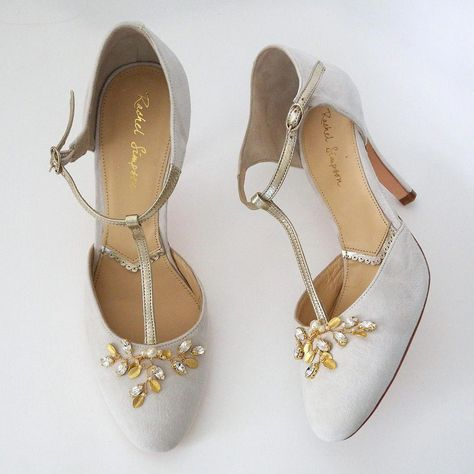 19186fa80bd9 Rachel Simpson Wedding Shoes. Vintage style that we just love. Ivory suede
