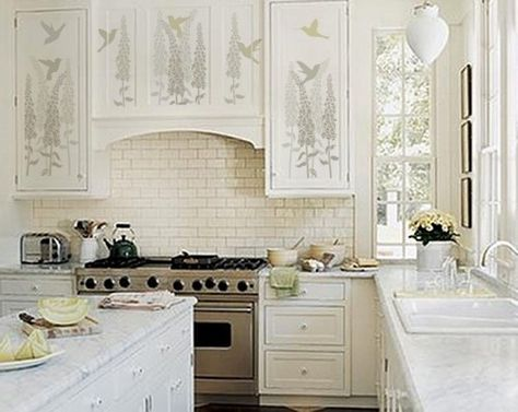 9 Stenciled Kitchen Cabinets Ideas Kitchen Cabinets Builders Cabinets Kitchen
