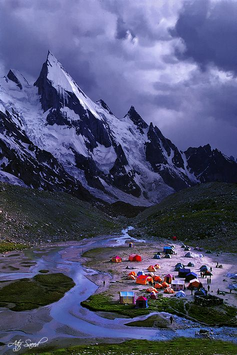 Laila Peak in Hushe Valley near Gondogoro glacier, Karakoram range of Pakistan at 6096m high.