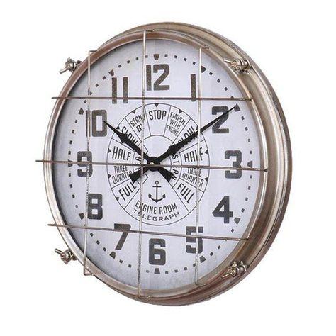 Large Nautical Metal Wall Clock Engine Room Telegraph In 2020 Wall Clock Metal Wall Clock Nautical Wall Clock