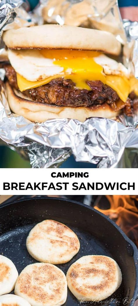 Who said camping breakfast couldn't be fancy? These BBQ Pulled Pork English Muffin Camping Breakfast Sandwiches are ridiculously easy and gourmet to boot.