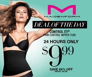 Maidenform Flash Sale: Control IT! Nipper Tube is only $8.49! (Reg. $28) | The Frugal Free Gal