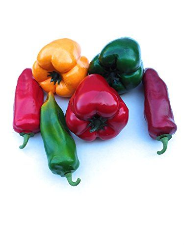 Mezly 6pcs artificial simulation fake bell pepper capsicum artificial vegetable photo props home decoration Red