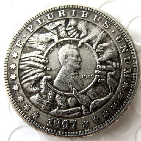 US Hobo 1897 Morgan Dollar In 1909 Lincoln Cents Hobo Coins Best Gift