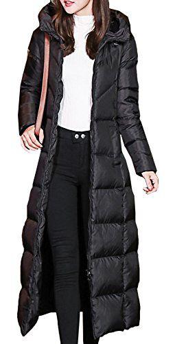 Damen Mantel Lange Winterjacke Steppjacke Kunstpelz Kapuze